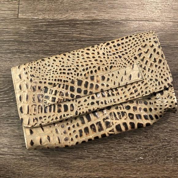 5dc0e0d403cf JJ Winters Bags | Leather Animal Print Clutch | Poshmark